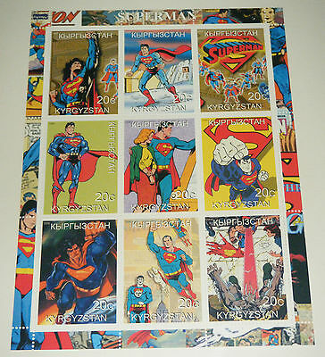 Superman Mint Unused Stamp Sheet - Kyrgyzstan