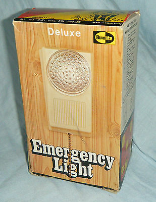 Mint Boxed Vintage c1970's Plastic Emergency Hanging Light