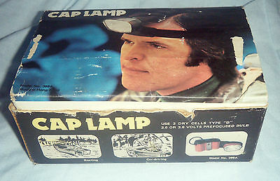 Vintage Boxed c1970's Cap Lamp Head Torch