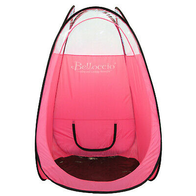 Huge Pink AIRBRUSH SPRAY TANNING TENT BOOTH Portable Sunless DHA Tan CLEAR TOP