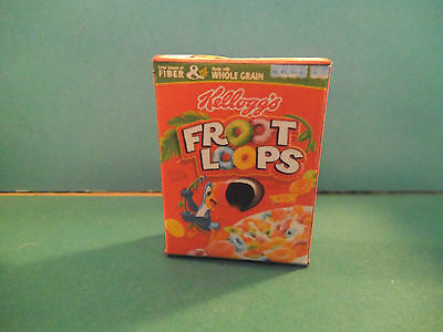 Barbie 1:6 Kitchen Food Miniature Handmade Box of Cereal Froot Loops