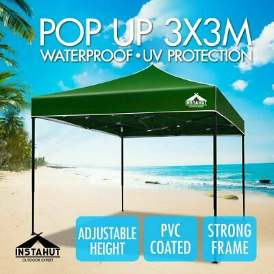 Instahut 3x3m Gazebo Outdoor Pop Up Tent Folding Marquee Party Camping Canopy