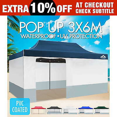 Instahut 3x6 m Outdoor Gazebo Folding Marquee Tent Canopy Pop Up Party Market