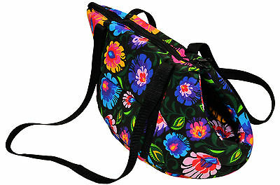 VINTAGE RETRO STYLE small DOG PUPPY CARRY BAG CARRIER SHOULDER TRAVEL CAT PET