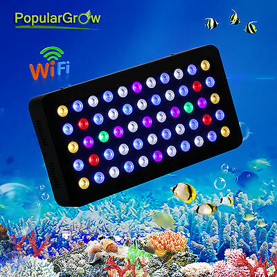 Dimmable WIFI 165W LED Aquarium Light Full Spectrum Fish Tank Reef Coral Lamp