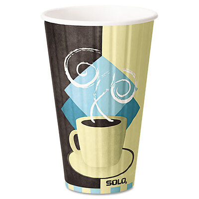 """Duo Shield Hot Insulated 16oz Paper Cups, Beige, 525/carton"""