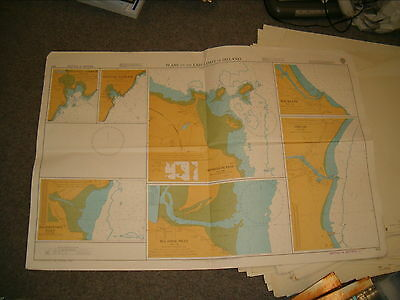 Vintage Admiralty Chart 633 PLANS ON THE EAST COAST OF IRELAND 1977 edn