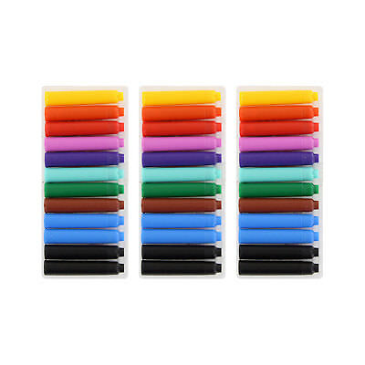 Thornton's Short Standard Fountain Pen Ink Cartridges, Assorted Ink, Pack of 36