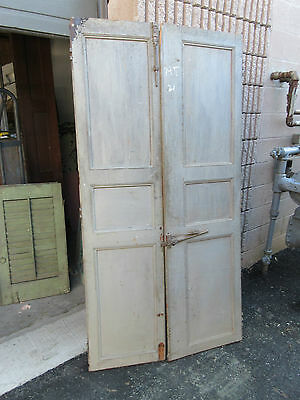 "pAIR ~ LATE 19th century antique furniture CABINET DOORS 74.5"" x 21"" & 18.25"""