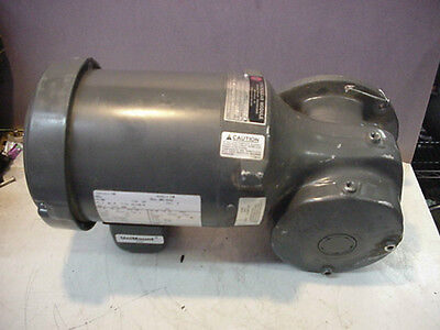New Emerson E180 US motor 3ph .5hp syncrogear 6WVP E453 speed reducer 87:1 ratio