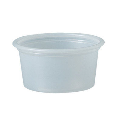 """Polystyrene Portion Cups, 3/4 Oz, Translucent, 2500/carton"""