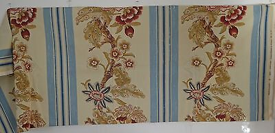"Wonderful French Screen Printed Linen By Zoffany – ""Montfleury"" Rr550"