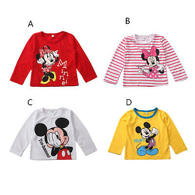 Dulce Minnie Mickey Mouse Tops camiseta Blusas Con capucha Niño Niña born~5Years