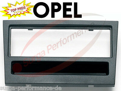 Radioblende Opel Astra Twin Top / Astra H 2004- Chassis 1din Black Matte