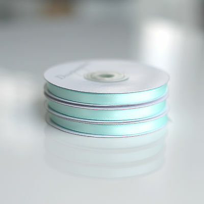 25m full roll 6mm or 12mm Kelly Green double sided satin ribbon roll