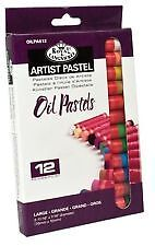 Royal Langnickel Artists Drawing Oil Pastels Box 12 Large 10 x 70mm OILPA612