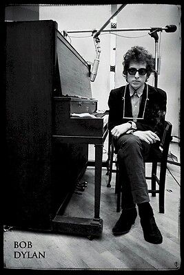 BOB DYLAN ~ PIANO 24x36 MUSIC POSTER Studio Harmonica NEW/ROLLED!