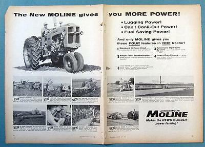 Original 1958 Minneapoilis Moline Tractor Ad THE NEW 5 STAR GIVES YOU MORE POWER