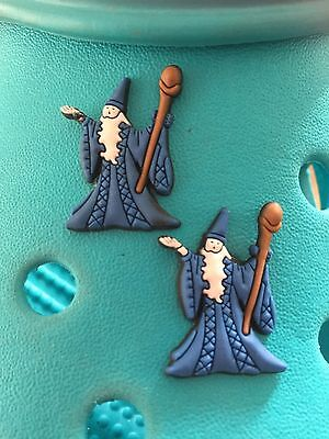 2 Wizard Shoe Charms For Crocs and Jibbitz Wristbands Free UK P&P