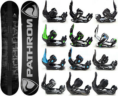Snowboard Pathron Draft Grey + Raven Bindungen M/L oder L - Neu!