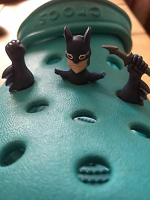 3D Batman 3 Piece Shoe Charm For Crocs and Jibbitz Wristbands. Free UK P&P.