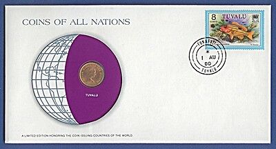 Numisbrief Coins of all Nations Tuvalu 1980 - 1 Cent 1976 NB-A14/05