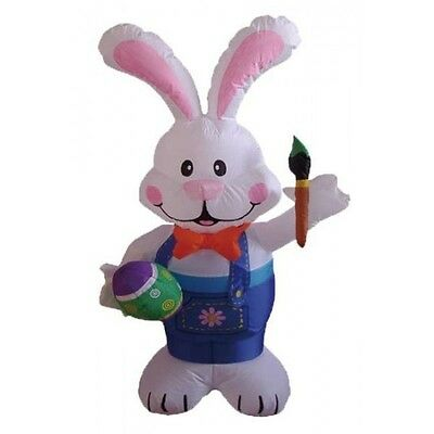 BZB Goods Easter Inflatable Rabbit Holding Color Pen Decoration