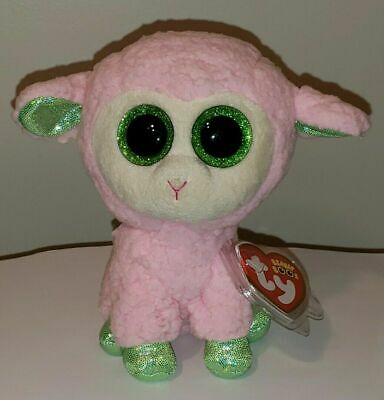 "Ty Beanie Boos ~ LEYLA the 6"" Sheep ~ 2014 NEW Exclusive Release ~ RARE ~IN HAND"