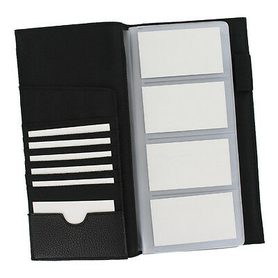 Rolodex Low Profile Business Card Book, 96 Card Capacity, Black (76659)