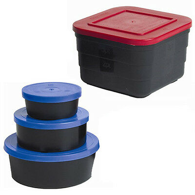 Plastic Bait Maggot Worms Pellet Boxes Tubs Coarse Fishing All Sizes Available