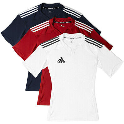 adidas Performance Men's 3 Stripe Rugby Union Jersey Training Teamwear Top