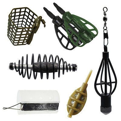 Fladen 10 Pack Swim Feeders Method Mould Cage Open Ended Carp Coarse Fishing