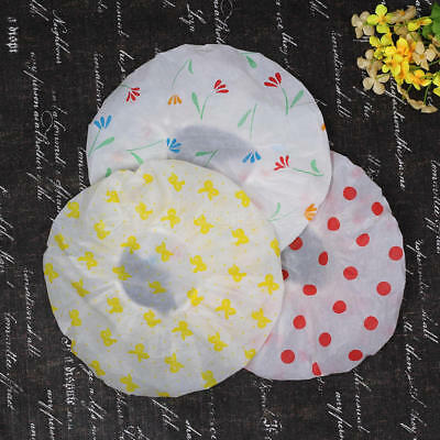 3x Waterproof Bathing Shower Cap Printing Coulours Flowers To Protect Hair