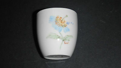 Branksome China Egg Cup Eggcup Blue Handpainted Flower Ew