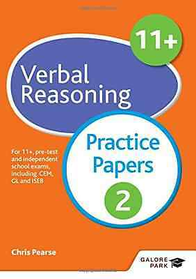 11+ Verbal Reasoning Practice Papers 2 - Paperback NEW Chris Pearse (A 2016-01-2