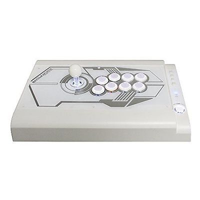 Manette Arcade Fighting Stick Pro LED blanc pour PS3/PC - Qanba - Avant NEUF