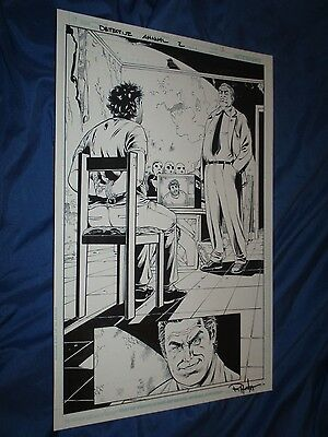 DETECTIVE COMICS ANNUAL #2 Original Art Page #3 Harvey Bullock (BATMAN/DC Comic)