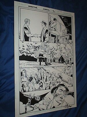 DETECTIVE COMICS ANNUAL #2 Original Art Page #5 Harvey Bullock (BATMAN/DC Comic)