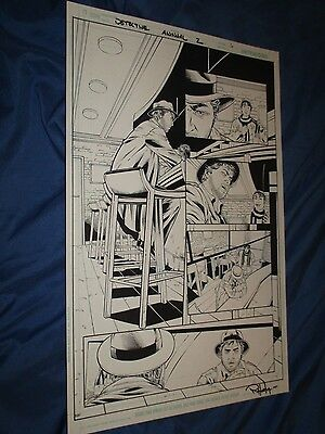DETECTIVE COMICS ANNUAL #2 Original Art Page #6 Harvey Bullock (BATMAN/DC Comic)