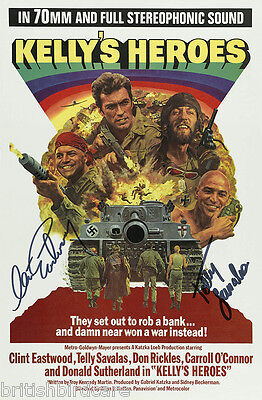 KELLYS HEROES Clint Eastwood Telly Savalas Quality Signed Autograph MOVIE POSTER