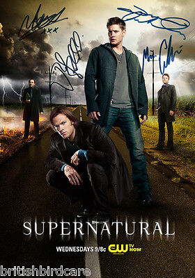 SUPERNATURAL POSTER  Signed Autograph Photo Quality Repro Jensen Ackles