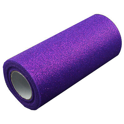 Wedding Glitter Tulle Roll 6in x 75ft Sparkling Tulle (25 yards) You Pick Color