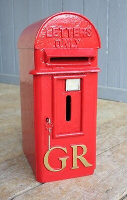 Original Cast Iron GR 'Hovis' Pole Mounted Post Box - Letter Boxes Wall Mounted