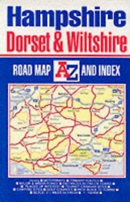 Hampshire, Dorset and Wiltshire Road ..., Geographers' A-Z Map Sheet map, folded