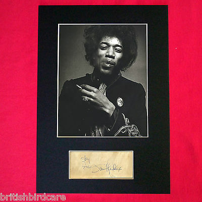 JIMI HENDRIX Mounted Signed Photo Reproduction Autograph Print A4 59