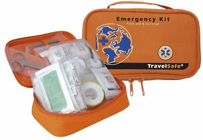 TravelSafe Travellers Emergency Kit - First Aid and Sterile Equipment in One Bag