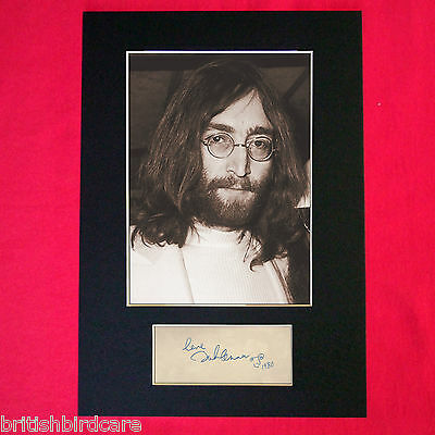 JOHN LENNON beatles Autograph Mounted Photo REPRO QUALITY PRINT A4 254