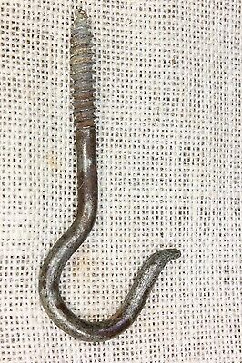 "hanging Plant shepherd Hook 4 1/8"" rustic vintage primitive old hanger lag screw"