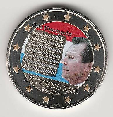-- 2 Euro Couleur / Luxembourg 2013A -- Hymne National