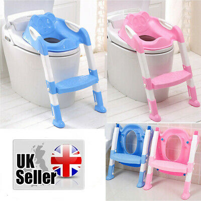 Toilet Training Potty Ladder Seat Step Assistant Baby Toddler Child Loo Trainer